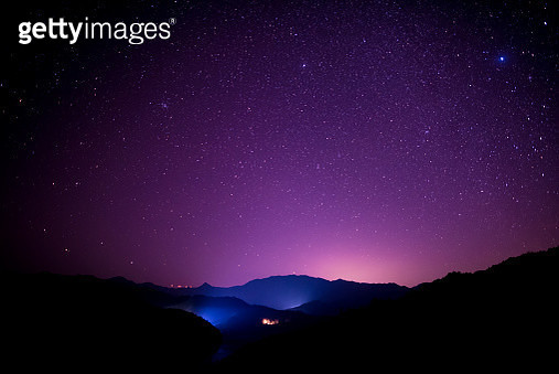 Starry sky scene on high mountains, South China - gettyimageskorea