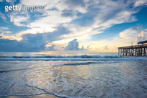 Beach Surf Sunrise - gettyimageskorea