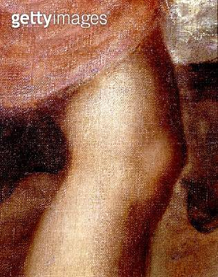 <b>Title</b> : The Death of Actaeon, detail of Diana's knee, c.1565 (oil on canvas) (detail of 28850)<br><b>Medium</b> : oil on canvas<br><b>Location</b> : National Gallery, London, UK<br> - gettyimageskorea