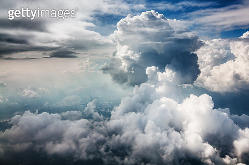 Aerial shot of some clouds - gettyimageskorea