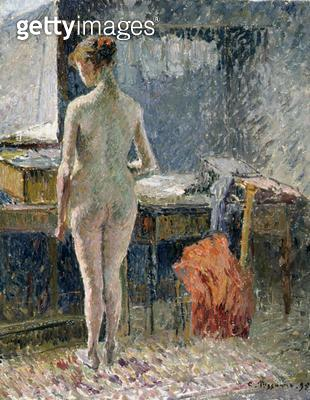 <b>Title</b> : Female Nude seen from the Back, 1895 (oil on canvas)Additional Infofemme nue vue de dos;<br><b>Medium</b> : <br><b>Location</b> : Private Collection<br> - gettyimageskorea
