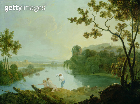 <b>Title</b> : Classical Landscape (oil on canvas)<br><b>Medium</b> : oil on canvas<br><b>Location</b> : Leeds Museums and Art Galleries (Temple Newsam House) UK<br> - gettyimageskorea