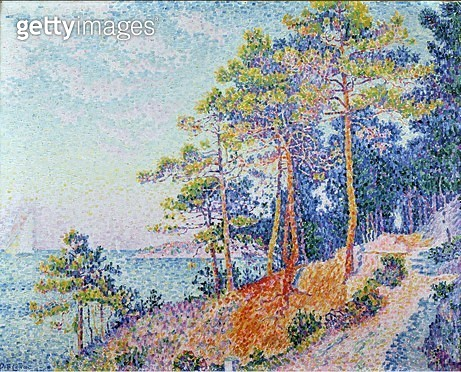 <b>Title</b> : St. Tropez, the Custom's Path, 1905<br><b>Medium</b> : oil on canvas<br><b>Location</b> : Musee de Grenoble, France<br> - gettyimageskorea