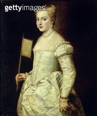 <b>Title</b> : Portrait of a Lady in White (oil on canvas)Additional InfoBildnis einer Dame in Weiss;<br><b>Medium</b> : oil on canvas<br><b>Location</b> : Gemaeldegalerie Alte Meister, Dresden, Germany<br> - gettyimageskorea