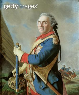 <b>Title</b> : Portrait of Comte Maurice de Saxe (1696-1750) (pastel on paper)Additional Infoone of the greatest French generals of the age;<br><b>Medium</b> : pastel on paper<br><b>Location</b> : Gemaeldegalerie Alte Meister, Dresden, Germany<br> - gettyimageskorea