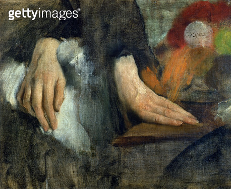<b>Title</b> : Study of Hands, 1859-60 (oil on canvas)<br><b>Medium</b> : oil on canvas<br><b>Location</b> : Musee d'Orsay, Paris, France<br> - gettyimageskorea