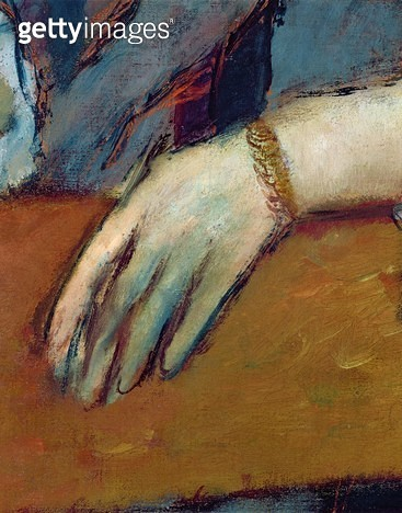 <b>Title</b> : Portrait of Helene Rouart (1886) (detail)<br><b>Medium</b> : pastel<br><b>Location</b> : National Gallery, London, UK<br> - gettyimageskorea