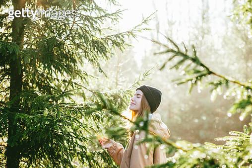 Young woman enjoying nature - gettyimageskorea