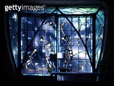 <b>Title</b> : Art Nouveau Window, 1948 (stained glass)<br><b>Medium</b> : stained glass<br><b>Location</b> : Musee de l'Ecole de Nancy, Meurthe-et-Moselle, France<br> - gettyimageskorea