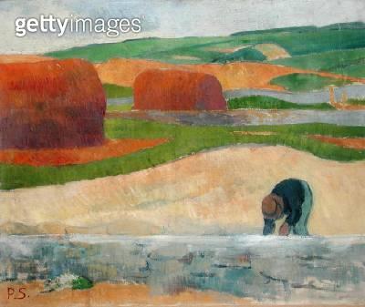 <b>Title</b> : Seaweed Gatherer, 1890 (oil on canvas)<br><b>Medium</b> : oil on canvas<br><b>Location</b> : Indianapolis Museum of Art, USA<br> - gettyimageskorea