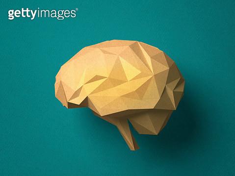 Paper craft Brain - gettyimageskorea
