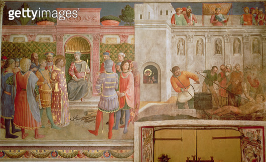 St.Lawrence before Decius and the martyrdom of St.Lawrence - gettyimageskorea