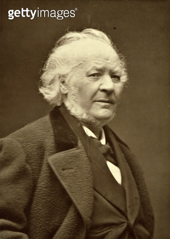 <b>Title</b> : Honore Daumier (1808-79), from 'Galerie Contemporaine', c.1874-78 (b/w photo)<br><b>Medium</b> : <br><b>Location</b> : Private Collection<br> - gettyimageskorea