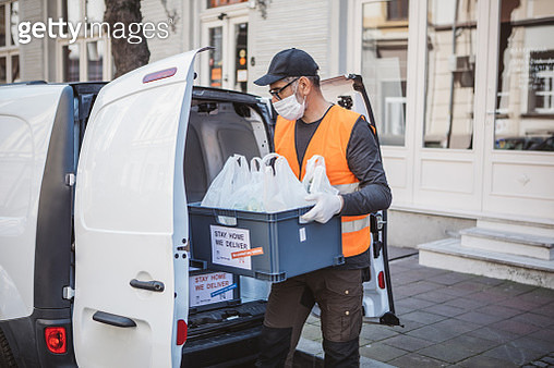 Food delivering at home address with car - gettyimageskorea