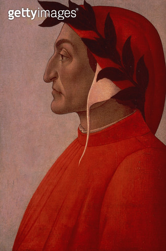 <b>Title</b> : Portrait of Dante (oil on canvas)Additional InfoDante Alighieri (1265-1321);<br><b>Medium</b> : <br><b>Location</b> : Private Collection<br> - gettyimageskorea
