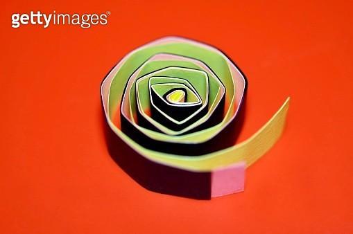 Hypnotizing Paper Swirl - gettyimageskorea