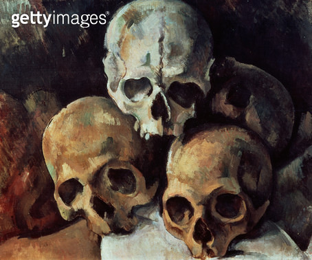 <b>Title</b> : Pyramid of skulls, 1898-1900 (oil on canvas)<br><b>Medium</b> : oil on canvas<br><b>Location</b> : Grand Palais, Paris, France<br> - gettyimageskorea