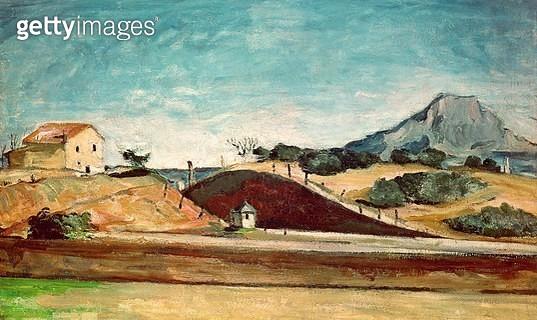 <b>Title</b> : The Railway Cutting, c.1870 (oil on canvas)<br><b>Medium</b> : oil on canvas<br><b>Location</b> : Neue Pinakothek, Munich, Germany<br> - gettyimageskorea