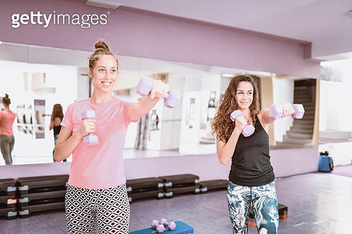 Female Fitness Team On Training - gettyimageskorea