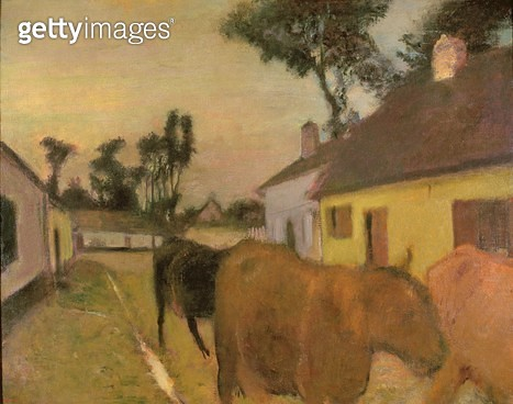 <b>Title</b> : Return of the Herd (oil on canvas)<br><b>Medium</b> : oil on canvas<br><b>Location</b> : New Walk Museum, Leicester City Museum Service, UK<br> - gettyimageskorea