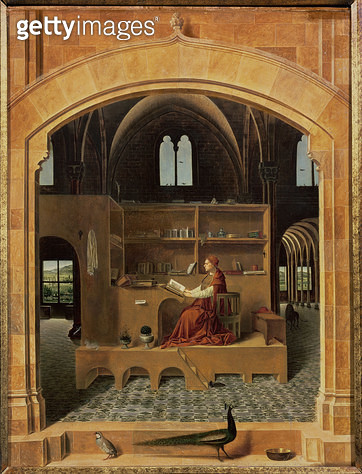 St. Jerome in his study, c.1475 (oil on panel) (see 259352 for detail) - gettyimageskorea