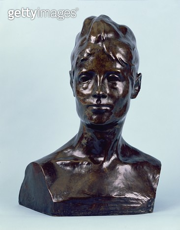 <b>Title</b> : Madame Schuffenecker, 1890 (bronze with brown patina)Additional Infowife of painter Emile Schuffenecker, 1851-1934;<br><b>Medium</b> : bronze with brown patina<br><b>Location</b> : Private Collection<br> - gettyimageskorea