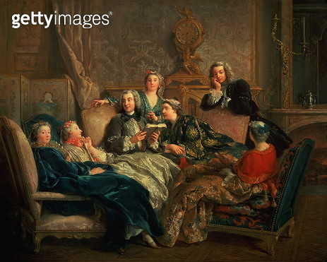 The Reading from Moliere, c.1728 - gettyimageskorea