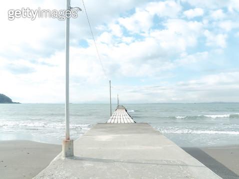 Pier of Tomiura Haraoka beach - gettyimageskorea