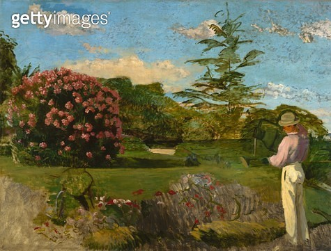 <b>Title</b> : The Little Gardener, c.1866-67 (oil on canvas)<br><b>Medium</b> : oil on canvas<br><b>Location</b> : Museum of Fine Arts, Houston, Texas, USA<br> - gettyimageskorea