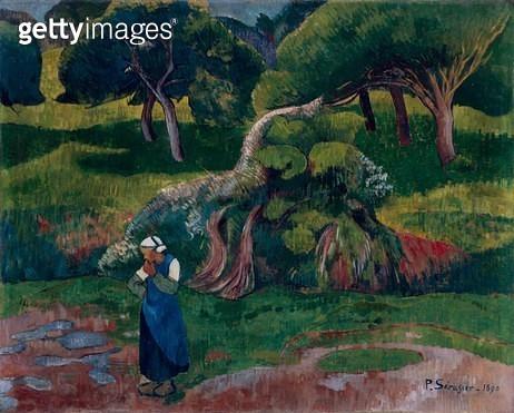 <b>Title</b> : Landscape at Le Pouldu, 1890 (oil on canvas)<br><b>Medium</b> : oil on canvas<br><b>Location</b> : Museum of Fine Arts, Houston, Texas, USA<br> - gettyimageskorea