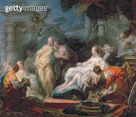 <b>Title</b> : Psyche showing her sisters her gifts from Cupid, 1753 (oil on canvas)<br><b>Medium</b> : oil on canvas<br><b>Location</b> : National Gallery, London, UK<br> - gettyimageskorea