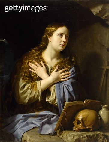 <b>Title</b> : The Repentant Magdalen, 1648 (oil on canvas)<br><b>Medium</b> : oil on canvas<br><b>Location</b> : Museum of Fine Arts, Houston, Texas, USA<br> - gettyimageskorea