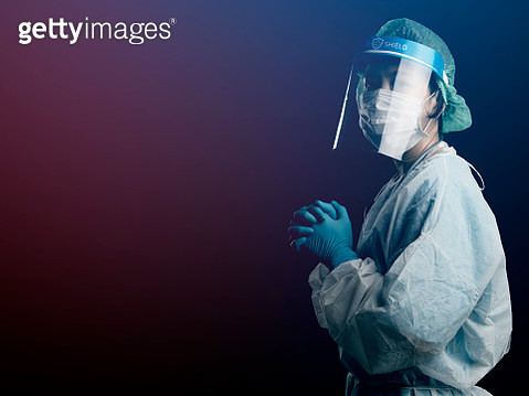 doctor in PPE suit uniform has stress and pray in Coronavirus outbreak or Covid-19, Concept of Covid-19 quarantine.Emotional stress of overworked doctor and medical care team during covid-10 period. - gettyimageskorea
