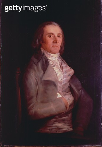 <b>Title</b> : Don Andres del Peral, 1797-8 (oil on panel)<br><b>Medium</b> : oil on panel<br><b>Location</b> : National Gallery, London, UK<br> - gettyimageskorea