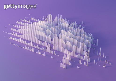 Abstract linear bar graph - gettyimageskorea