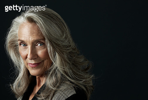 Grayhaired Woman - gettyimageskorea