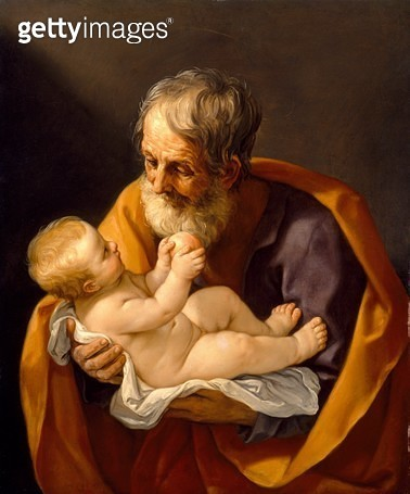 <b>Title</b> : St. Joseph and the Christ Child, 1634-40 (oil on canvas)<br><b>Medium</b> : oil on canvas<br><b>Location</b> : Museum of Fine Arts, Houston, Texas, USA<br> - gettyimageskorea