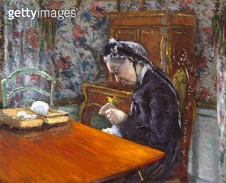 <b>Title</b> : Mademoiselle Boissiere Knitting, 1877 (oil on canvas)<br><b>Medium</b> : oil on canvas<br><b>Location</b> : Museum of Fine Arts, Houston, Texas, USA<br> - gettyimageskorea
