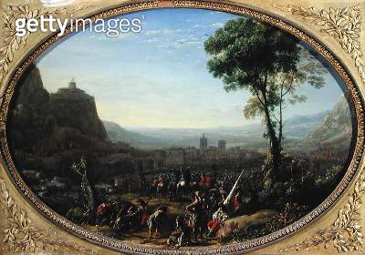 <b>Title</b> : The Pass of Susa Taken by Louis XIII in 1629 (oil on canvas)Additional InfoLe Pas de Suze force par; war between England and Fra<br><b>Medium</b> : oil on canvas<br><b>Location</b> : Louvre, Paris, France<br> - gettyimageskorea