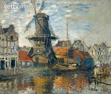 <b>Title</b> : The Windmill, Amsterdam, 1871 (oil on canvas)<br><b>Medium</b> : oil on canvas<br><b>Location</b> : Museum of Fine Arts, Houston, Texas, USA<br> - gettyimageskorea