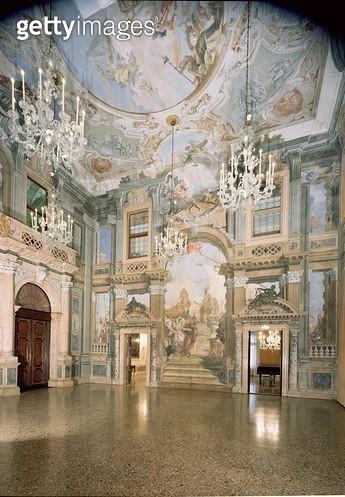 <b>Title</b> : Ballroom (fresco)<br><b>Medium</b> : <br><b>Location</b> : Palazzo Labia, Venice, Italy<br> - gettyimageskorea