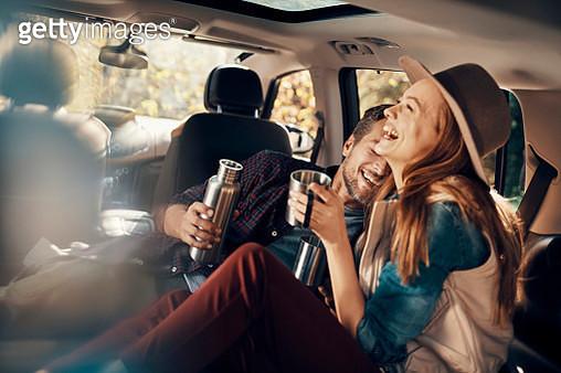 Couple having Coffee - gettyimageskorea