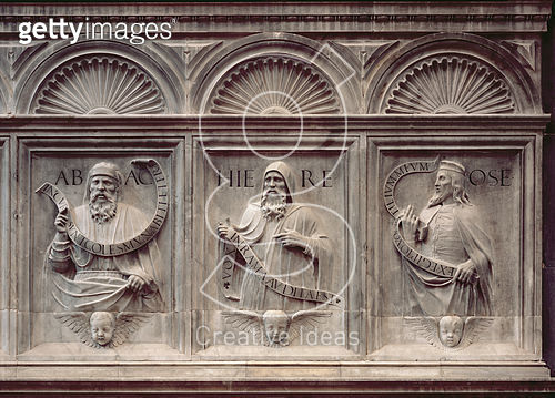 <b>Title</b> : The Prophets Habakkuk, Jeremiah and Hosea (stone)<br><b>Medium</b> : stone<br><b>Location</b> : San Francesco della Vigna, Venice, Italy<br> - gettyimageskorea