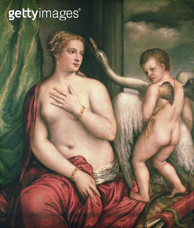 <b>Title</b> : Leda and the Swan (oil on canvas)<br><b>Medium</b> : oil on canvas<br><b>Location</b> : Galleria Sabauda, Turin, Italy<br> - gettyimageskorea