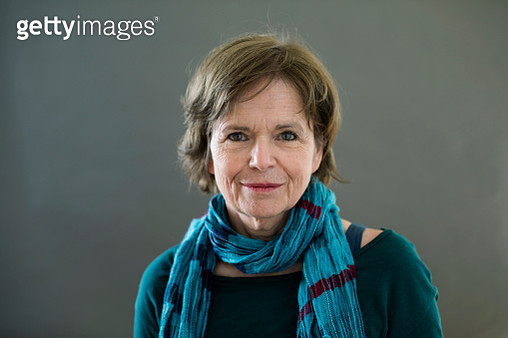 Portrait of middle age woman looking into the camera. Part of the LGBTQ Portrait series. - gettyimageskorea