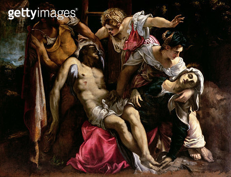<b>Title</b> : Deposition from the Cross (oil on canvas)<br><b>Medium</b> : oil on canvas<br><b>Location</b> : Galleria dell' Accademia, Venice, Italy<br> - gettyimageskorea