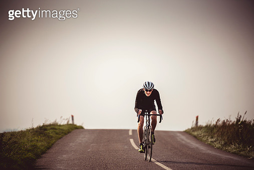 Cyclist Out On a Training Ride - gettyimageskorea