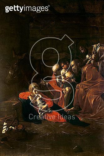 <b>Title</b> : Adoration of the Shepherds (oil on canvas)<br><b>Medium</b> : oil on canvas<br><b>Location</b> : Museo Nazionale, Messina, Italy<br> - gettyimageskorea