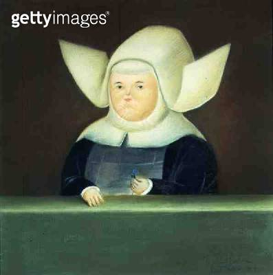 <b>Title</b> : Mother Superior at the Window, 1968 (oil on canvas)<br><b>Medium</b> : oil on canvas<br><b>Location</b> : Private Collection<br> - gettyimageskorea