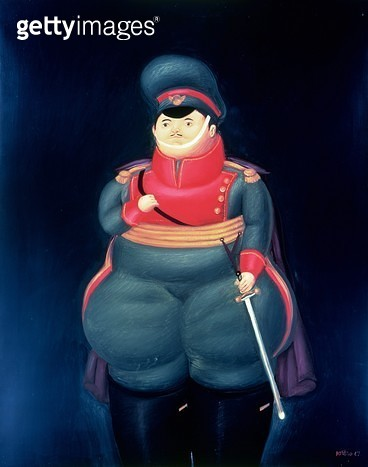 <b>Title</b> : The Commandant, 1967 (oil on canvas)<br><b>Medium</b> : <br><b>Location</b> : Private Collection<br> - gettyimageskorea